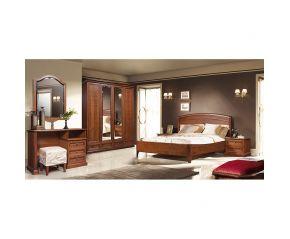 Набор Скарлетт (кровать,2 тумбы,шкаф,стол,банкетка,зеркало)