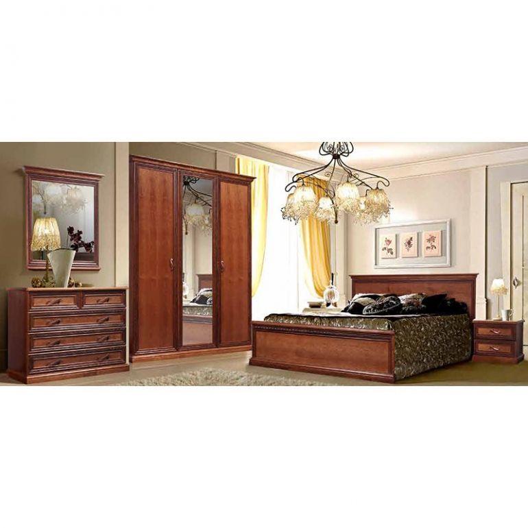 Набор Амелия (кровать,2 тумбы,шкаф,комод,зеркало)