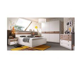 Набор Диагональ (кровать,2 тумбы,шкаф,комод,зеркало)