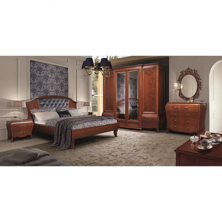 Набор Тэсоро (кровать,2 тумбы,шкаф,комод,зеркало)